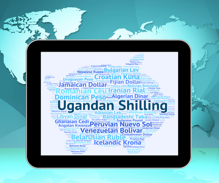 ugandan: Ugandan Shilling Showing Worldwide Trading And Market