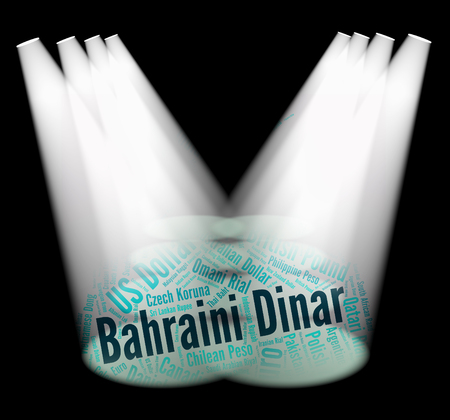 bahrain money: Bahraini Dinar Representing Currency Exchange And Foreign