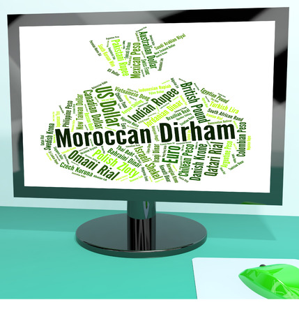 dirham: Moroccan Dirham Representing Foreign Exchange And Currencies Stock Photo