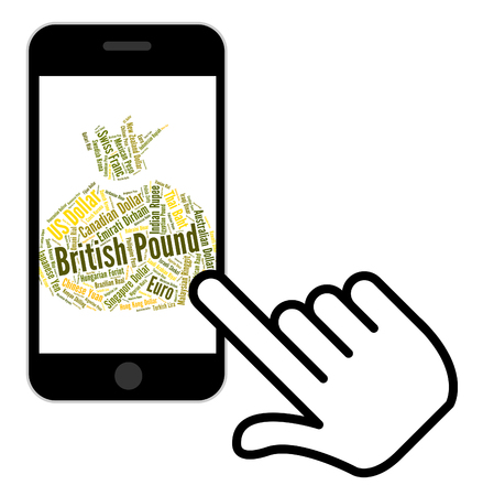 exchange rate: British Pound Representing Exchange Rate And Currency Stock Photo
