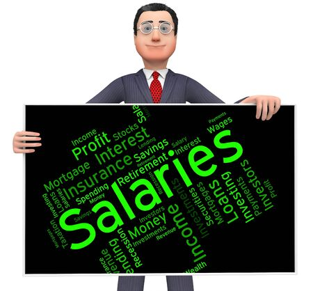remuneraciones: Salaries Word Representing Stipend Text And Money