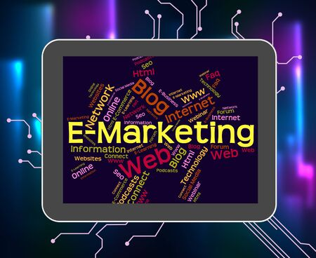 emarketing: Emarketing Word Showing World Wide Web And Sales Www