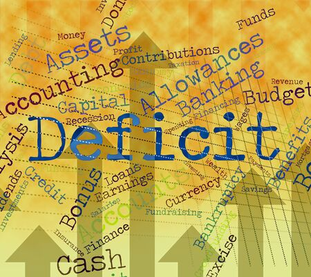 indebt: Deficit Word Meaning Financial Obligation And Finance