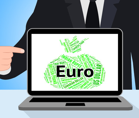 european exchange: Euro Currency Representing Worldwide Trading And Coin
