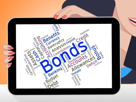 owing: Bonds Word Showing Bad Debt And Loan