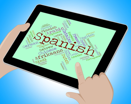 lingo: Spanish Language Showing Vocabulary Word And Lingo