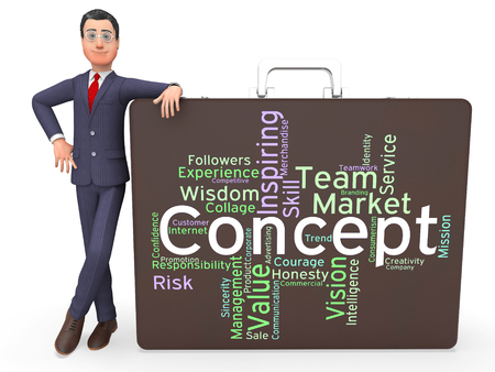 theories: Concept Word Indicating Thoughts Words And Theory Stock Photo