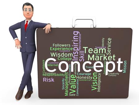 hipotesis: Concepto Palabra Indicando Pensamientos Palabras y Teoría