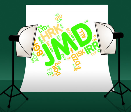 exchange rate: Jmd Currency Indicating Exchange Rate And Dollars