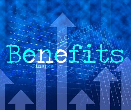 perks: Benefits Word Representing Text Wordcloud And Compensation