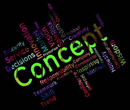 hipótesis: Palabras de concepto que indica la teoría noción y Palabras
