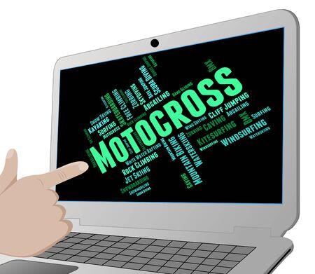 super cross: Las palabras de motocross Mostrando Sport Racer Y Supercross