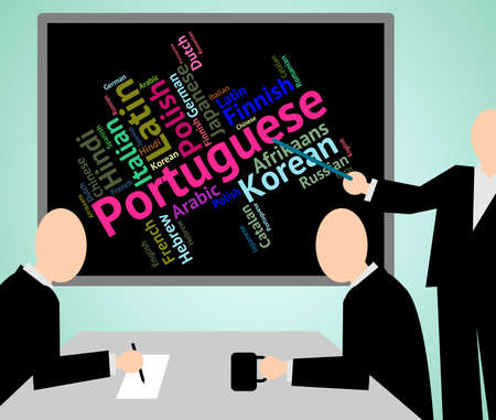 lingo: Portuguese Language Indicating Languages Lingo And Dialect