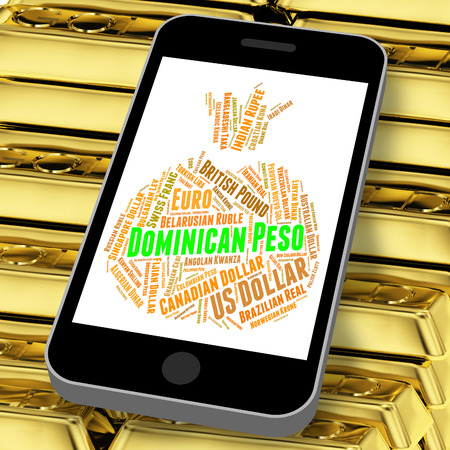 peso: Dominican Peso Showing Exchange Rate And Forex Stock Photo