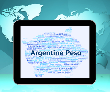peso: Argentine Peso Meaning Exchange Rate And Banknotes Stock Photo