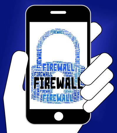 firewall: Firewall Lock Representing No Access And Isolated Stock Photo