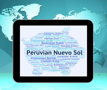 nuevo: Peruvian Nuevo Sol Representing Worldwide Trading And Exchange