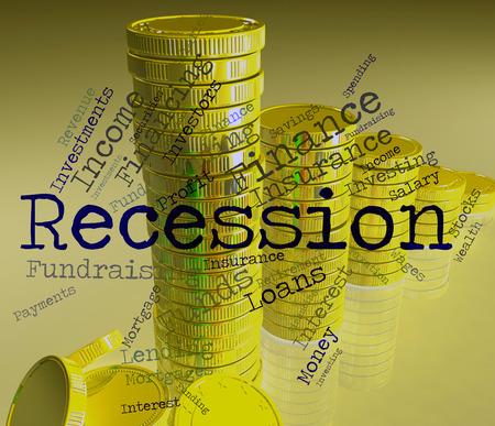 stagnate: Recession Word Indicating Economic Crisis And Failure