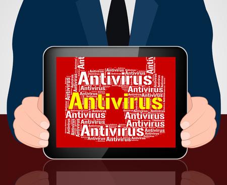 malicious: Antivirus Lock Representing Malicious Software And Shield