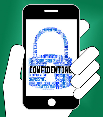 classified: Confidential Lock Meaning Confidentiality Word And Classified Stock Photo