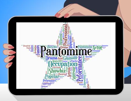 pantomima: Pantomima estrella Mostrando drama Melodrama Y Texto
