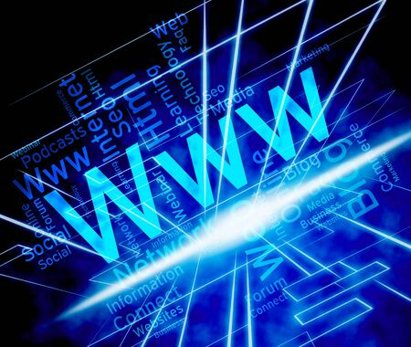 Www Word Representing World Wide Web And Web Site