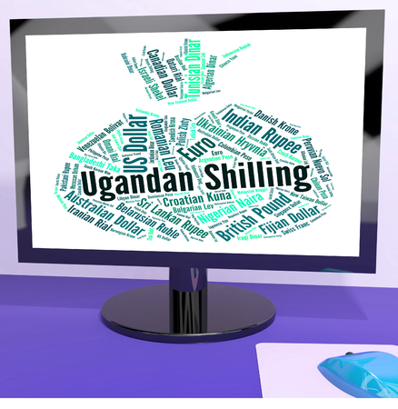 ugandan: Ugandan Shilling Showing Worldwide Trading And Shillings