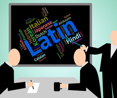 latin language: Latin Language Showing International Speech And Lingo Stock Photo
