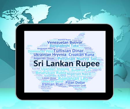 sri lankan: Sri Lankan Rupee Representing Exchange Rate And Currencies