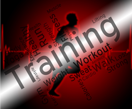 working out: Training Words Representing Working Out And Fit