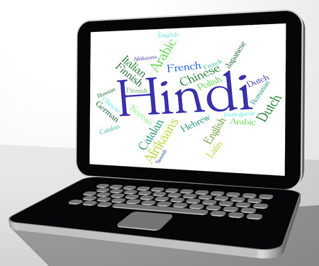 dialect: Hindi Language Indicating Translate Dialect And Words Stock Photo