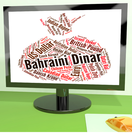 foreign currency: Bahraini Dinar Showing Foreign Currency And Bhd Stock Photo