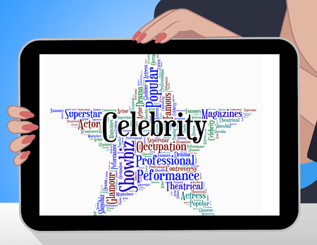 stardom: Celebrity Star Meaning Notorious Wordcloud And Word Stock Photo