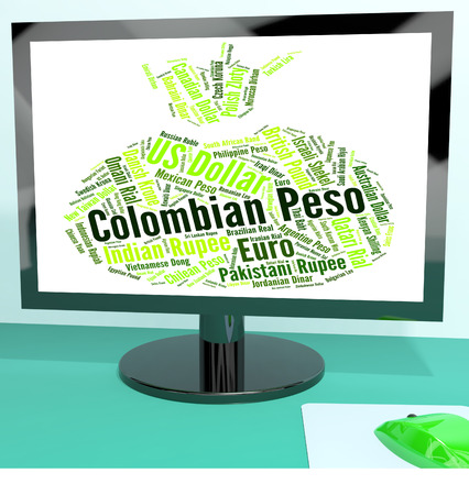 peso: Colombian Peso Showing Foreign Exchange And Banknotes Stock Photo