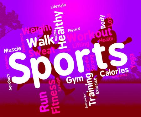actividad fisica: Deportes palabra que significa actividad f�sica y deportiva Foto de archivo
