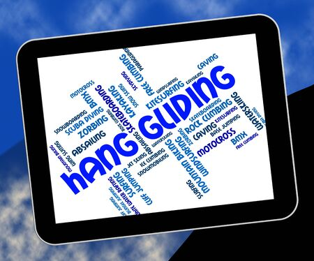 wordcloud: Hang Gliding Representing Word Wordcloud And Hanggliding