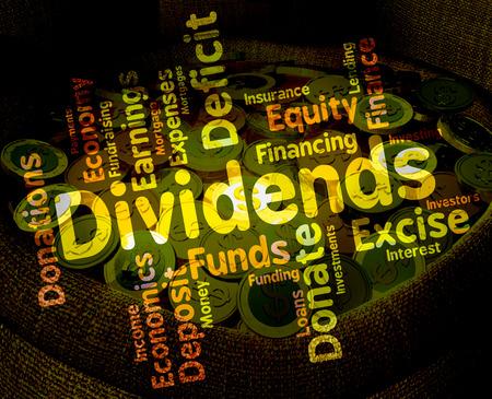 配当金の単語意味株式市場とテキスト