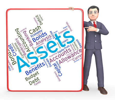 owned: Assets Words Indicating Estate Wordcloud And Capital Stock Photo