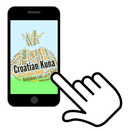 foreign exchange: Croatian Kuna Meaning Foreign Exchange And Text
