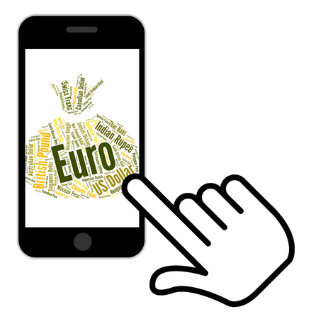 european exchange: Euro Currency Showing Foreign Exchange And Text Stock Photo