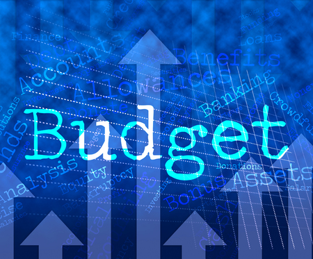 budgets: Budget Words Indicating Budgets Wordcloud And Financial