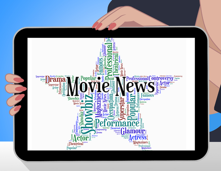 headlines: Movie News Representing Picture Show And Headlines