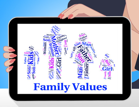 relative: Family Values Indicating Blood Relative And Families