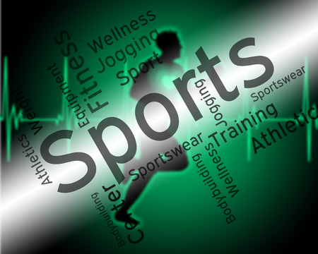 get a workout: Sports Word Meaning Working Out And Training