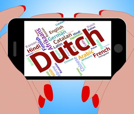 translator: Dutch Language Showing Translator International And Wordcloud
