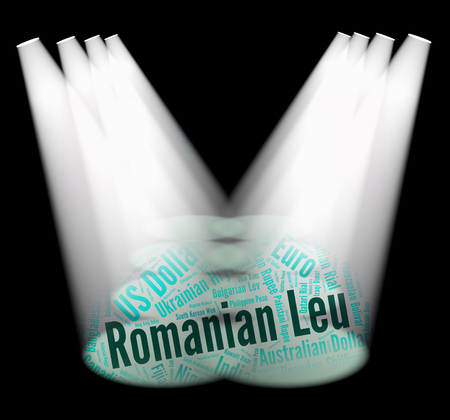 romanian: Romanian Leu Representing Foreign Exchange And Forex Stock Photo