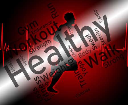 preventive medicine: Health Words Meaning Preventive Medicine And Well Stock Photo