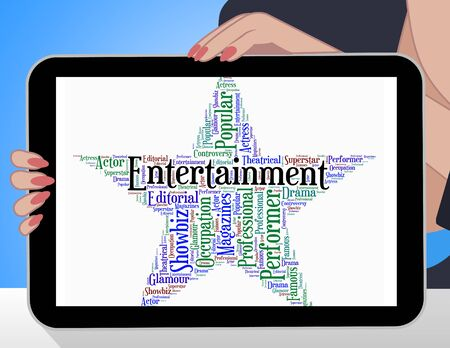motion picture: Entertainment Star Showing Motion Picture And Media