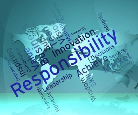 obliged: Responsibility Words Representing Duty Obligation And Accountable