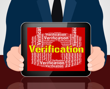 verifying: Verification Lock Meaning Authenticity Guaranteed And Text
